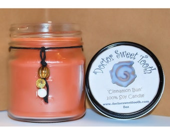 Cinnamon Bun Soy Mason Jar Candle 8oz