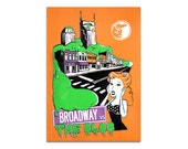 SALE - Broadway vs The Blob Screen Printed Poster - Monsters of Nashville Series