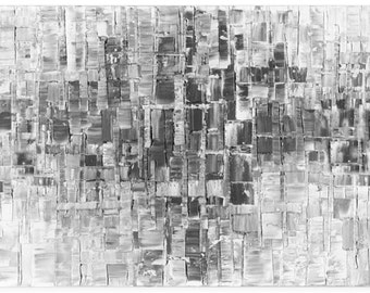 Black White Gray Modern Abstract Giclee PRINT on Canvas Home Decor Wall Art Large Abstract Landscape Contemporary Art Print by Susanna
