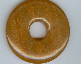 50mm Red Aventurine PI Donut Pendant 413
