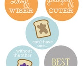 Twin Iron on Transfers for onesies or tshirts - gender neutral - DIY printable