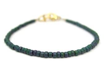 Friendship Bracelet, Teal Friendship Bracelet, Layer bracelet, seed bead bracelet, beaded bracelet, Dainty bracelet, seed bead