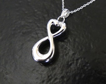 Ashes Necklace - Infinity Container For Ashes, Sterling Silver Cremation Jewelry