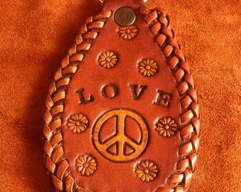 Peace and Love Key Ring