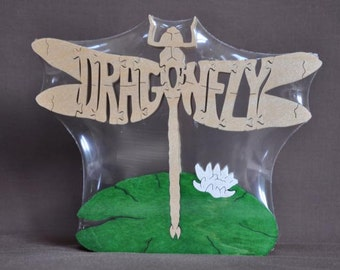 Dragonfly Puzzle Wooden Toy Hand  Cut with Scroll Saw