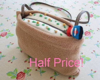 NOW HALF PRICE Delicious cuddly inari nigiri sushi handbag / purse