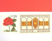 Postage Stamps Unused Vintage, Red Rose, Opera, The Met, 49 cents postage, Mail 10 Letters, RSVPs, Cards, 1 oz postage stamps, NYC