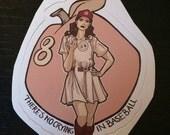 Individual Die Cut Queen of Diamonds sticker (Item 01-081)