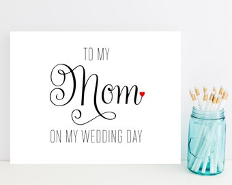 Card for Mom on Wedding Day