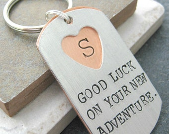 Going Away Gift Keychain for Coworker, colleague gift, retirement gift, secret message inside, personalized, choose your own message