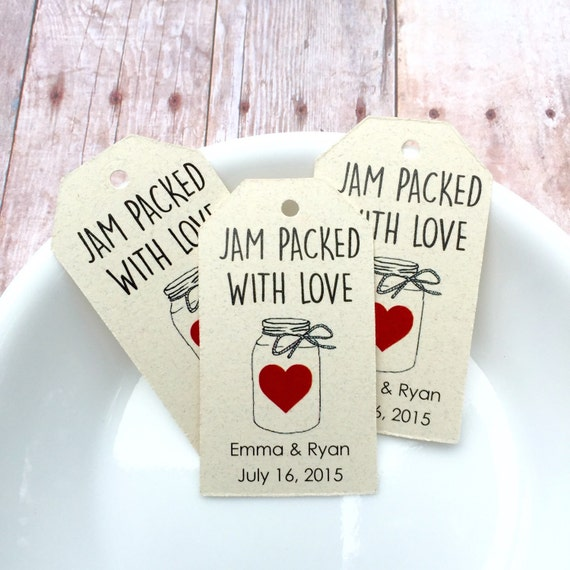 Custom wedding tags jam packed with love custom tag for 18 8 salon rancho santa margarita
