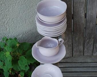 Vintage Mikasa Rondo Lavender Glow Dishes 18 Pieces