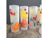 Colorful Fruit Vintage Zombie Glasses - Set of 5