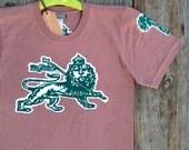 Men t shirt Lion of Judah batik hand drawn hand painted & hand dyed brown size XS, S, M, L, XL, XXL