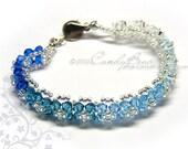 Crystal Bracelet, Rainbow Shade Swarovski Bracelet by CandyBead