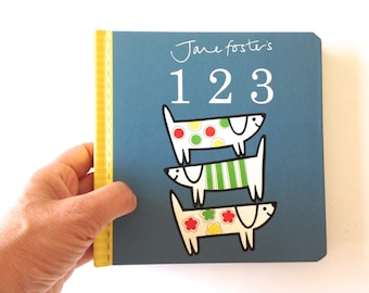 New Jane Foster's 123 pre-school baby board book  -  Scandi retro illustrations Jane Foster  - can sign on request!