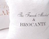 NEW! Made to Order White Linen Cotton Blend SLIP COVER The French Market & Brocante Design