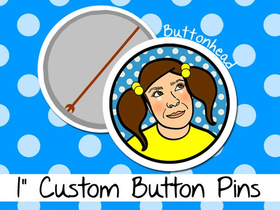 25 Customized Buttons Pins - 1 Inch (Small)