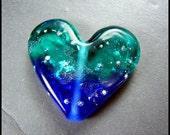 Beadworx - Lampwork Focal Bead - Heart of the Ocean