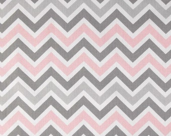 Zoom zoom bella fabric remnant chevron remnant pink gray remnant zoom zoom remnant
