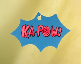 Comic Book Explosion Air Freshener, KA-POW