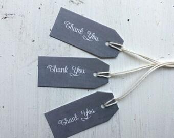 50 Tiny Thank You Tags - Chalkboard Tags - Gift Tags - Favor Tag - Blackboard Tag - Mini Favor Tag - Thank You Tag - Wedding Gift Tag