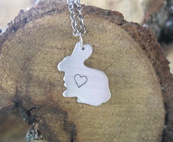 Rabbit Heart Necklace