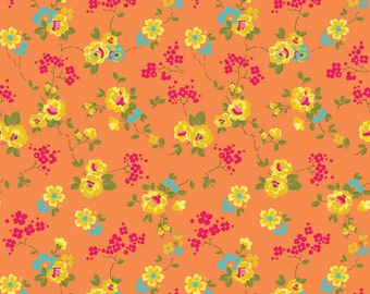 Olivia - Orange - Fabric From Riley Blake - 7.95 Per Yard