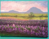 Custom painting for Annika Lilac field acrylic painting