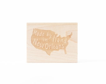 Made by Hand United States Rubber Stamp For Makers