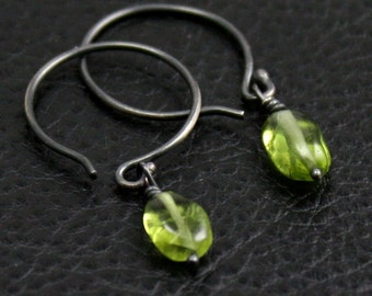 Budding Earrings in Sterling and Peridot