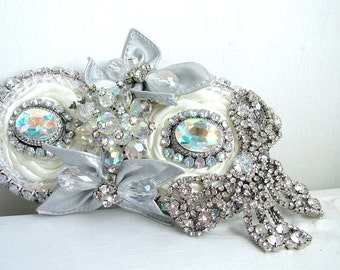 labour of Love - OOAK hairpiece/clip - Ready to ship xx