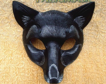 MADE TO ORDER Leather Fox Mask... masquerade fox foxes costume mardi gras halloween burning man splicer
