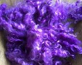 Black Light Purple - Curly Mohair, 1 Ounce DOLL HAIR (b8)