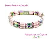 Magnetic Bracelet  Ladies Pink Bracelet  Double Magnetic Clasp -  MB01
