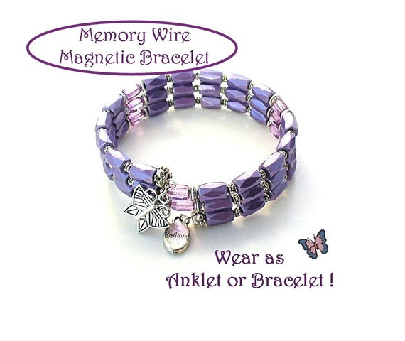 Magnetic bracelet memory wire magnetic bracelet by redhatlady for How does magnetic jewelry work
