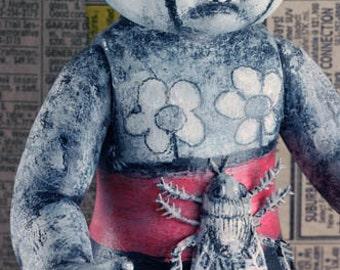 Laurie Geller Handmade Re-Purposed Art Doll...NATURE GIRL