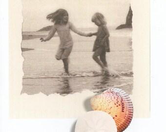Seaside memories blank greeting card