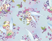 Disney TINKERBELL on Blue, 1 yard