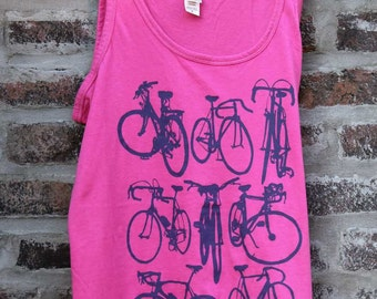 Awesome Women's Bicycle Art Tank Top -  Bike Chart Tank Top - Road Track Cruiser