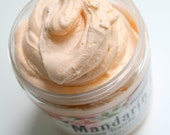 Whipped Soap Fluffy Handmade Mandarin Plum 8 oz Creme Fraiche