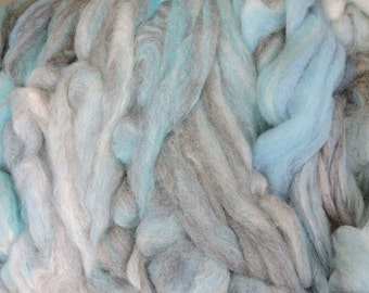 2  oz Kid Mohair and Shetland Roving in Shades of blue and Charcoal J6
