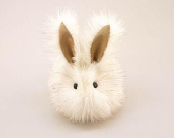 Stuffed Bunny Stuffed Animal Cute Plush Toy Bunny Kawaii Plushie Angel the Ivory and Gold Snuggly Faux Fur Bunny Rabbit Medium 5x8 Inches