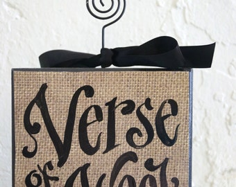 Verse Of The Week Card Holder