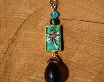 1900s Purple Chandelier Crystal Necklace