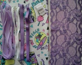 DIY Fabric and notions Fluor Surfer & Lilac for 1 BRA and BRIEF by Merckwaerdigh