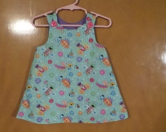 Infant Dress/Jumper Reversible No Seams! Approxomately 9-16 months