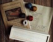 Olde Glory Button Box Punch Needle Complete Kit Valdani Threads Weavers Cloth