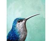 Hummingbird realistic bird art print from Original oil painting