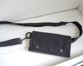 black waxed canvas hip bag hipster Smartphone convenience wallet modern Fanny Pack Waist practical pouch mini messenger organizer satchel
